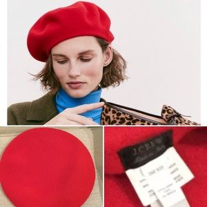 J.Crew French red beret hat 🇫🇷